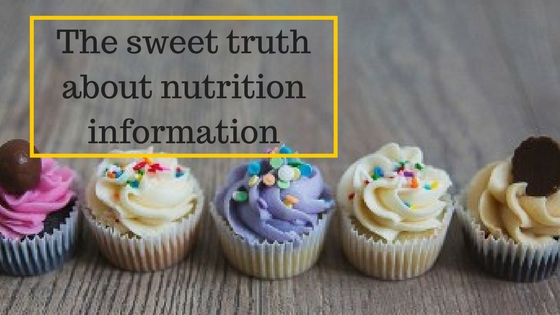 The sweet truth about nutrition information