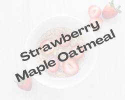 Strawberry Maple Oatmeal